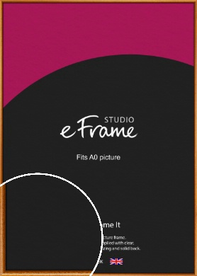Heirloom Brown Picture Frame, A0 (841x1189mm) (VRMP-161-A0)