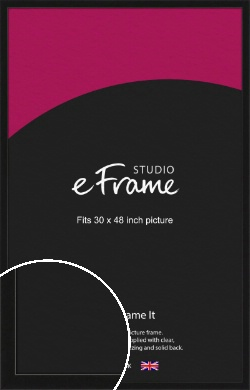 Extra Deep Gallery Black Picture Frame, 30x48