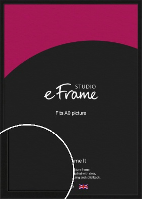 Extra Deep Gallery Black Picture Frame, A0 (841x1189mm) (VRMP-950-A0)