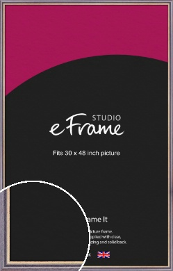 Purpley Blue Picture Frame, 30x48