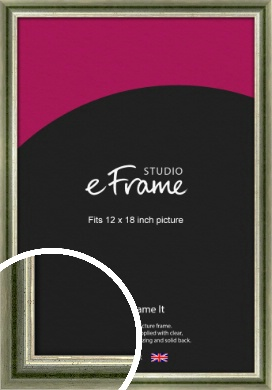Classic Rounded Green Picture Frame, 12x18