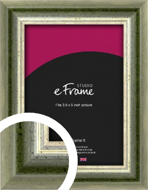 Classic Rounded Green Picture Frame, 3.5x5