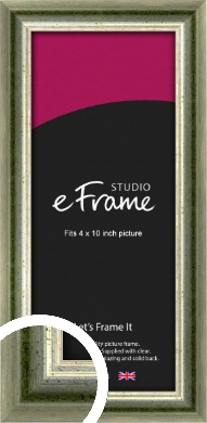 Classic Rounded Green Picture Frame, 4x10