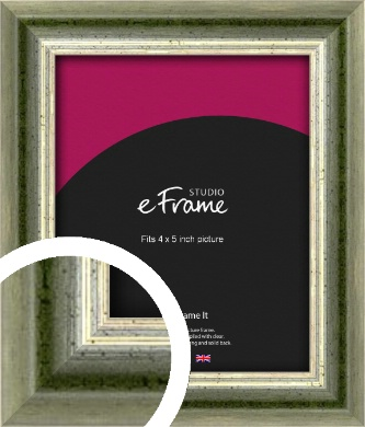Classic Rounded Green Picture Frame, 4x5