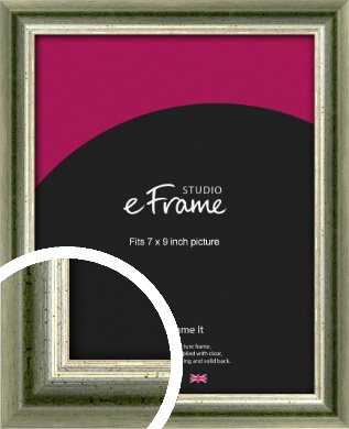 Classic Rounded Green Picture Frame, 7x9