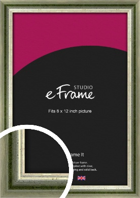 Classic Rounded Green Picture Frame, 8x12