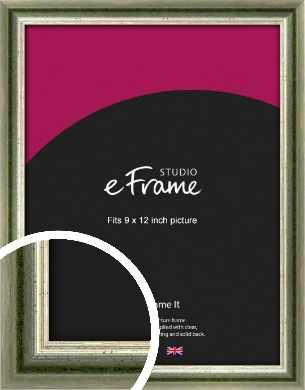 Classic Rounded Green Picture Frame, 9x12