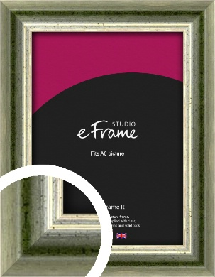 Classic Rounded Green Picture Frame, A6 (105x148mm) (VRMP-352-A6)