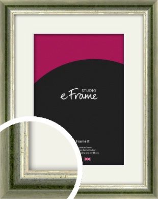 Classic Rounded Green Picture Frame & Mount (VRMP-352-M)