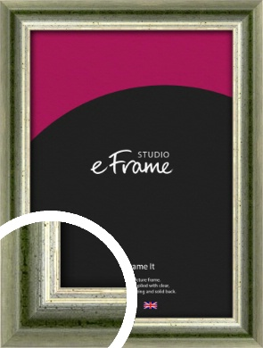 Classic Rounded Green Picture Frame (VRMP-352)