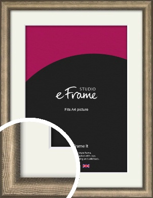 Embossed Shagreen Effect Light Bronze / Copper Picture Frame & Mount, A4 (210x297mm) (VRMP-951-M-A4)