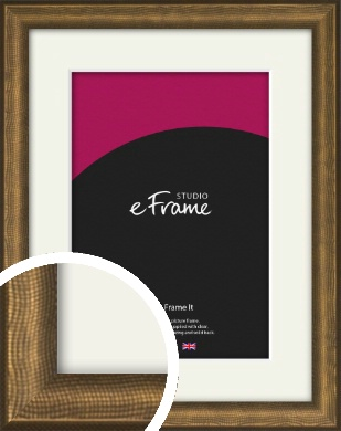 Embossed Shagreen Effect Strong Bronze / Copper Picture Frame & Mount (VRMP-953-M)