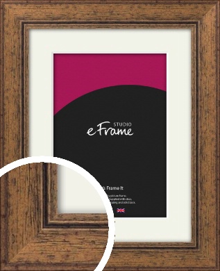 Traditional Stained Brown Picture Frame & Mount (VRMP-123-M)