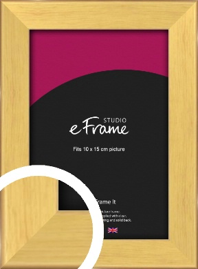 Golden Natural Wood Picture Frame, 10x15cm (4x6
