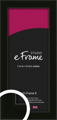 Deep Reflective Black Picture Frame, 4x10