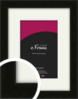 Deep Reflective Black Picture Frame & Mount, 4x6