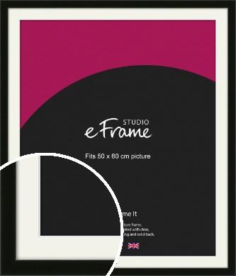 Deep Reflective Black Picture Frame & Mount, 50x60cm (VRMP-956-M-50x60cm)