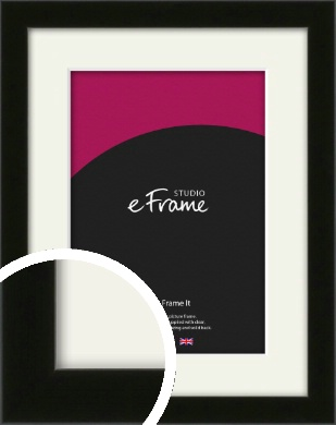 Deep Reflective Black Picture Frame & Mount (VRMP-956-M)