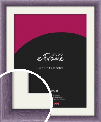 Lavender Purple Picture Frame & Mount, 11x14