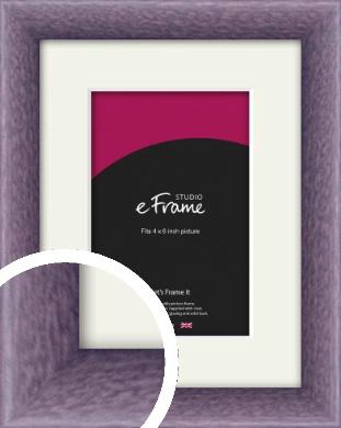 Lavender Purple Picture Frame & Mount, 4x6