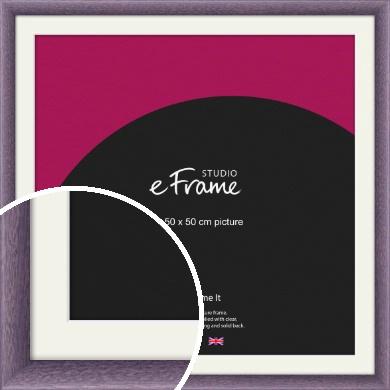 Lavender Purple Picture Frame & Mount, 50x50cm (VRMP-347-M-50x50cm)