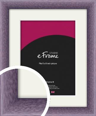 Lavender Purple Picture Frame & Mount, 6x8