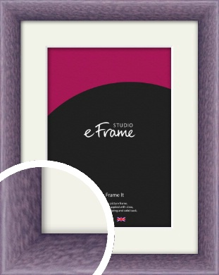 Lavender Purple Picture Frame & Mount (VRMP-347-M)