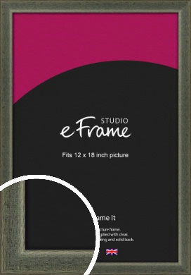 Stained Olive Green Picture Frame, 12x18