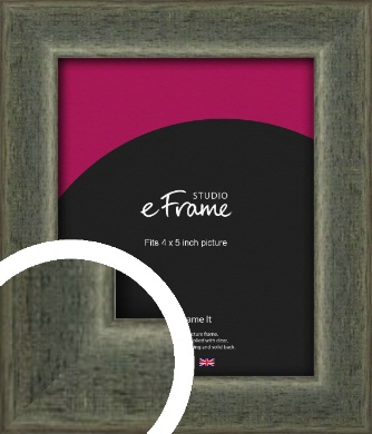 Stained Olive Green Picture Frame, 4x5