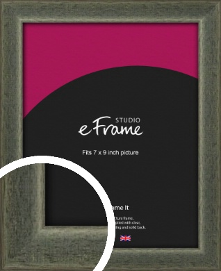 Stained Olive Green Picture Frame, 7x9