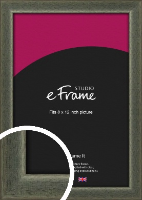 Stained Olive Green Picture Frame, 8x12
