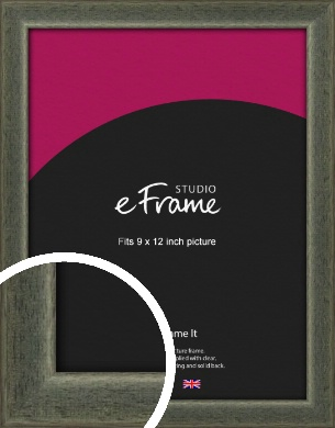 Stained Olive Green Picture Frame, 9x12
