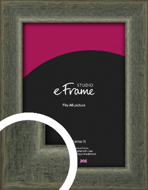 Stained Olive Green Picture Frame, A6 (105x148mm) (VRMP-343-A6)