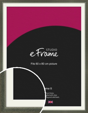 Stained Olive Green Picture Frame & Mount, 60x80cm (VRMP-343-M-60x80cm)