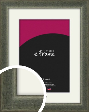 Stained Olive Green Picture Frame & Mount (VRMP-343-M)