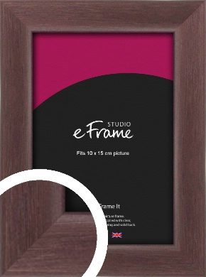 Dark Cushion Brown Picture Frame, 10x15cm (4x6