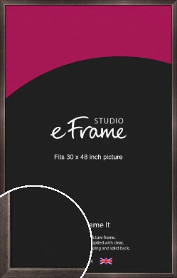 Mellow Black Picture Frame, 30x48