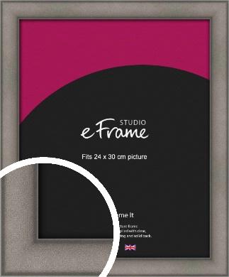 Curved Graphite Silver Picture Frame, 24x30cm (VRMP-586-24x30cm)