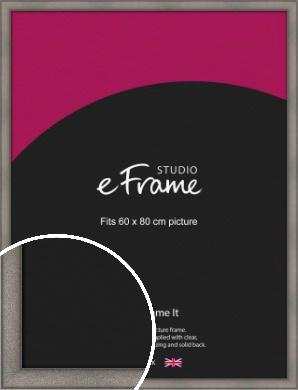 Curved Graphite Silver Picture Frame, 60x80cm (VRMP-586-60x80cm)