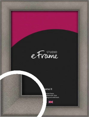 Curved Graphite Silver Picture Frame (VRMP-586)
