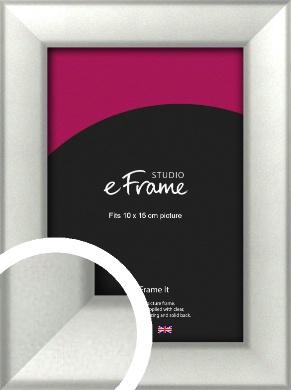 Basic Cushion Silver Picture Frame, 10x15cm (4x6