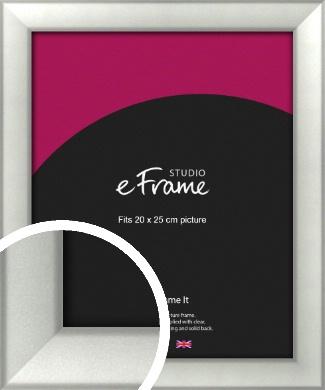 Basic Cushion Silver Picture Frame, 20x25cm (8x10