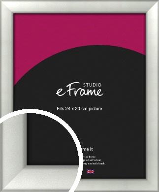 Basic Cushion Silver Picture Frame, 24x30cm (VRMP-442-24x30cm)