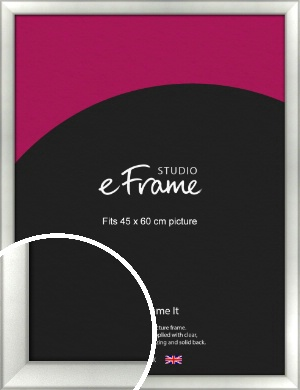 Basic Cushion Silver Picture Frame, 45x60cm (VRMP-442-45x60cm)