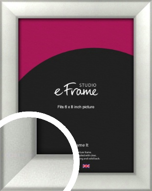 Basic Cushion Silver Picture Frame, 6x8