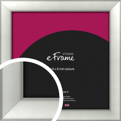 Basic Cushion Silver Picture Frame, 8x8