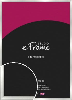 Basic Cushion Silver Picture Frame, A0 (841x1189mm) (VRMP-442-A0)