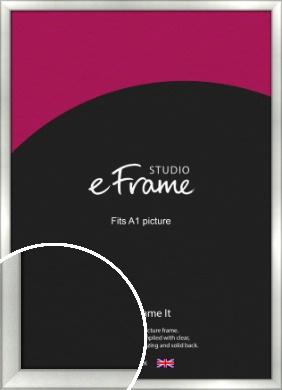 Basic Cushion Silver Picture Frame, A1 (594x841mm) (VRMP-442-A1)