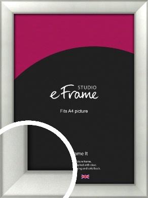 Basic Cushion Silver Picture Frame, A4 (210x297mm) (VRMP-442-A4)