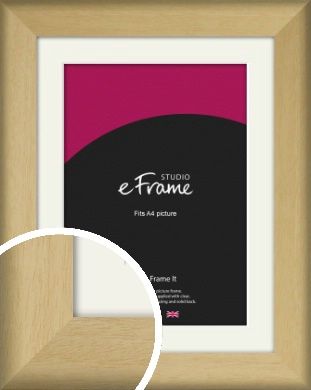 Nature Inspired Natural Wood Picture Frame & Mount, A4 (210x297mm) (VRMP-962-M-A4)